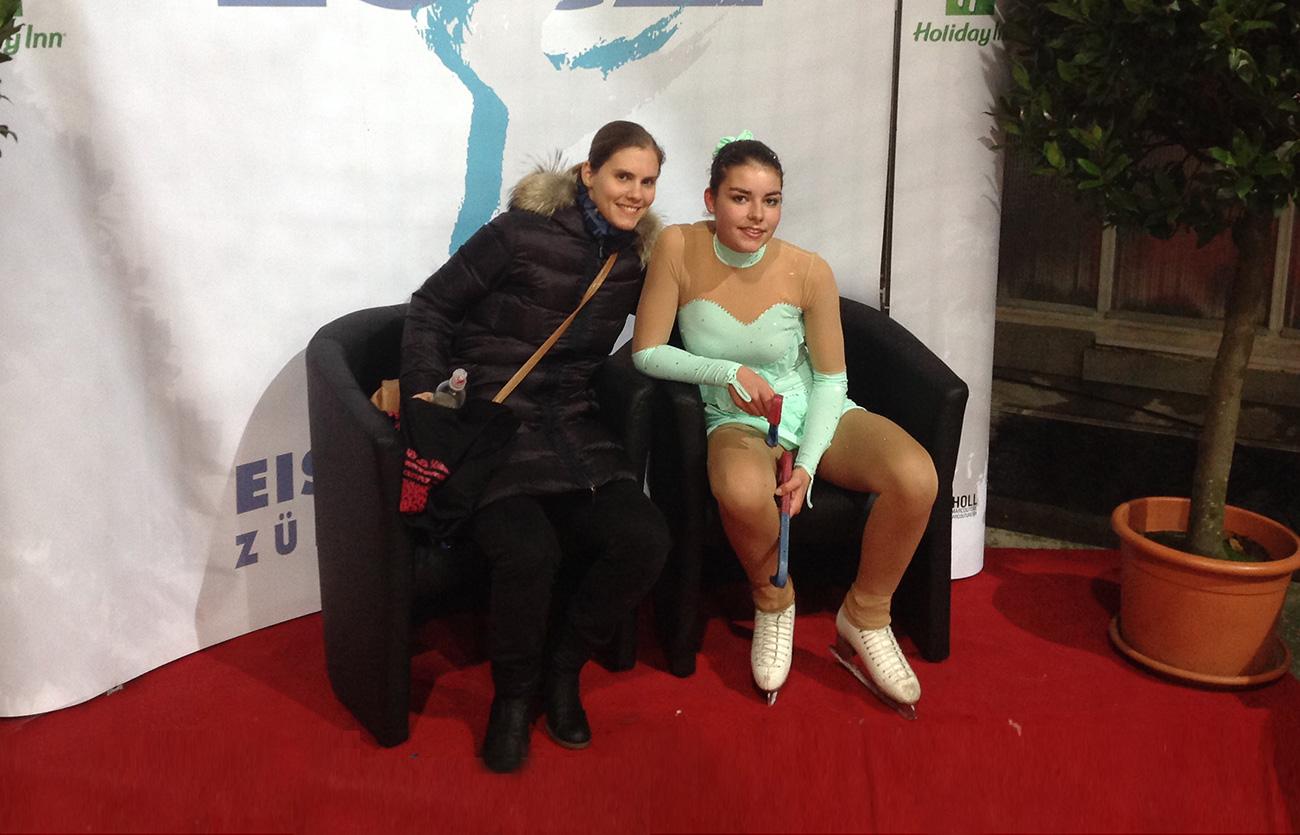 Sarina Hagmann riskierte zum ersten Mal den Doppelaxel
