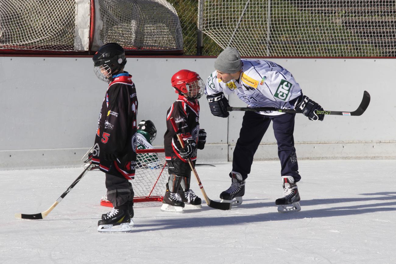 Sven Berger verriet beim Swiss Ice Hockey Day so manchen Profitrick.