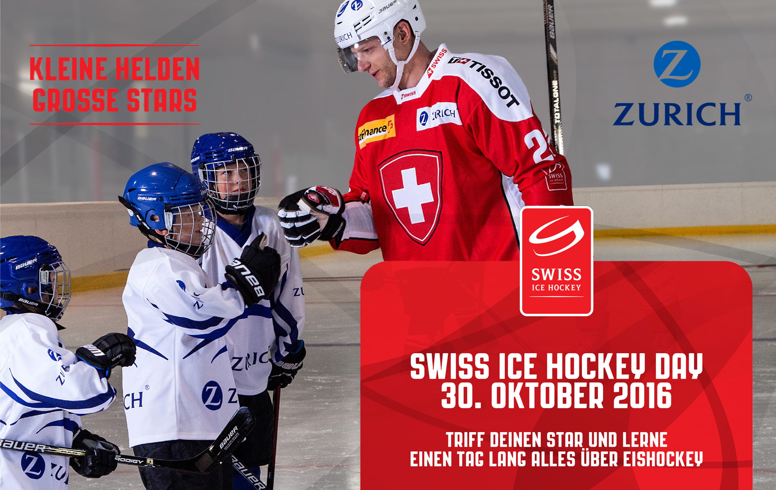 "Swiss Ice Hockey Day: ""Kleine Helden – Grosse Stars"""
