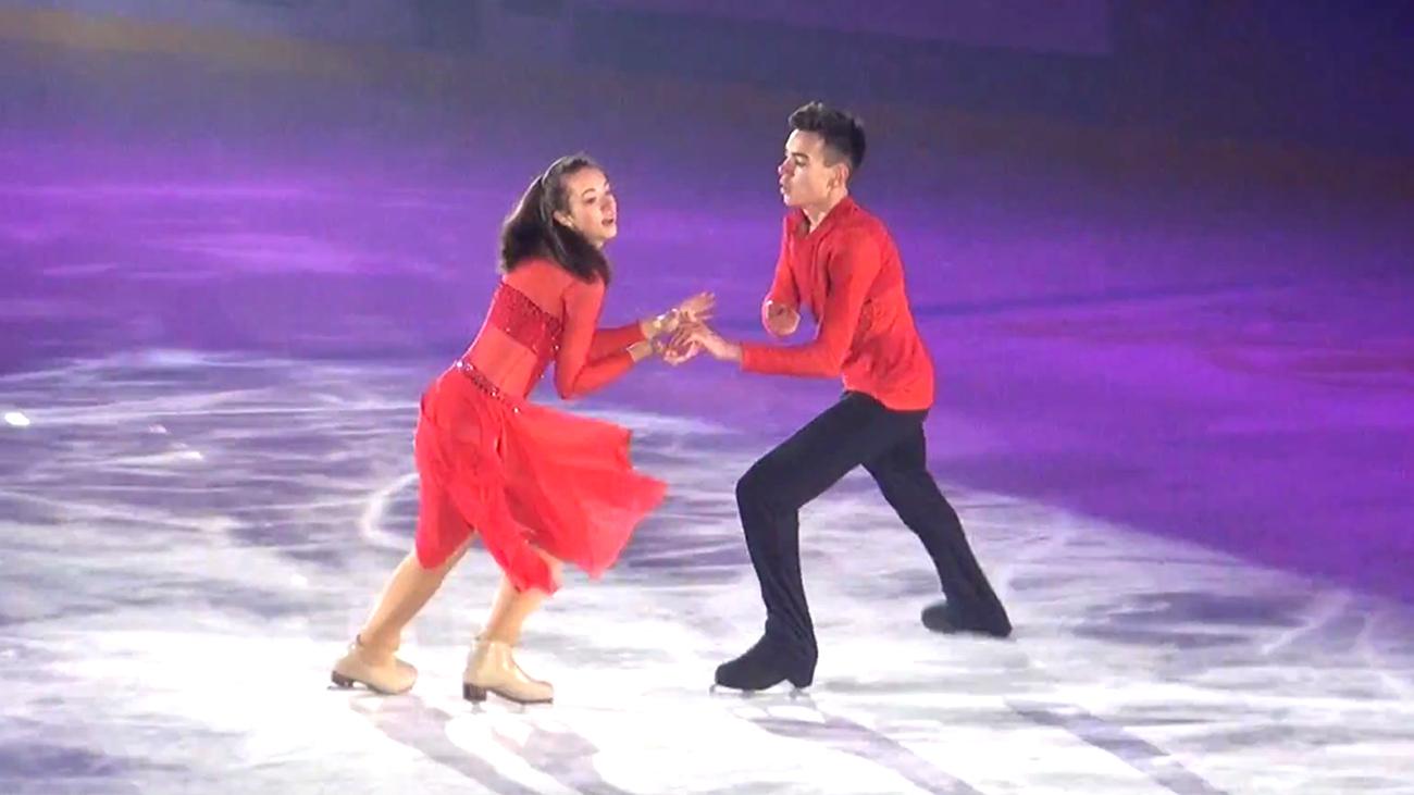 Alina Klein und Maxim Kobelt bei der Show on Ice 2017 in Widnau. Foto: Christoph Klein