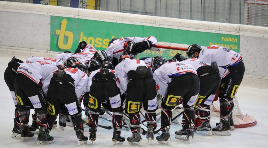 Verschworenes Team mit Zuversicht vor dem Spiel. Foto: Jrene Luchsinger.