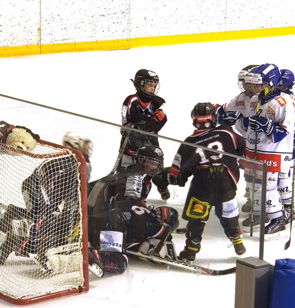 Shutout gesichert: Jonas Tritten wird nach dem Sieg über die ZSC Lions gefeiert. Foto: Natalie Giger