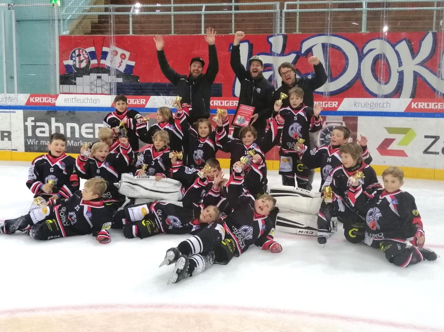 GEC-Bambini gewinnen das Tagesturnier in Rapperswil.